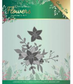 DIES CHRISTMAS FLOWERS POINSETTIA CORNER - JAD10107