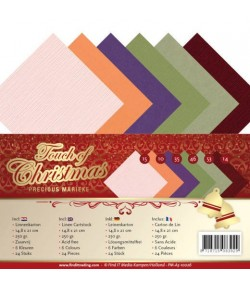 24 CARTES 13.5X27CM TOUCH OF CHRISTMAS
