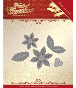 DIE TOUCH OF CHRISTMAS POINSETTIAS - PM10187
