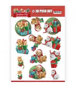 FEUILLE 3D CHRISTMAS PETS - SB10462