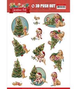FEUILLE 3D CHRISTMAS PETS - SB10463