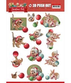FEUILLE 3D CHRISTMAS PETS - SB10464