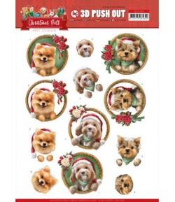 FEUILLE 3D CHRISTMAS PETS - SB10465