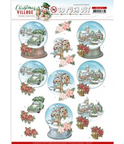 FEUILLE 3D CHRISTMAS VILLAGE - SB10473
