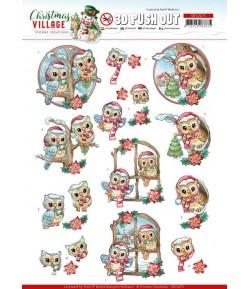 FEUILLE 3D CHRISTMAS VILLAGE - SB10475