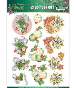FEUILLE 3D CHRISTMAS FLOWERS - SB10479