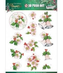 FEUILLE 3D CHRISTMAS FLOWERS - SB10481