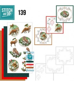 KIT 3D A BRODER CHRISTMAS ANIMALS STDO139