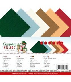 24 FEUILLES A5 250GR -  CHRISTMAS VILLAGE