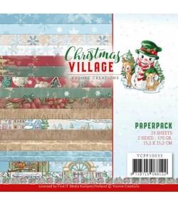 BLOC 23 FEUILLES 15 X 15 CM - CHRISTMAS VILLAGE YCPP10033