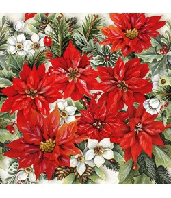SERVIETTE POINSETTIA