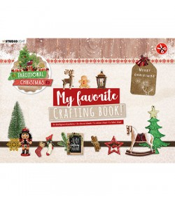 BLOC A4 CRAFTING BOOK  TRADITIONAL CHRISTMAS - STUDIOLIGHT