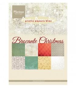 BLOC A5 BROCANTE CHRISTMAS - MARIANNE DESIGN - PK9171