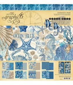 BLOC 16 FEUILLES OCEAN BLUE 30X30CM GRAPHIC45 4502016