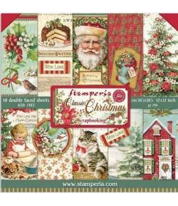 BLOC 10 FEUILLES CLASSIC CHRISTMAS 30X30 SBBL74