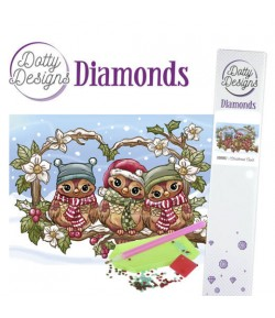 KIT DIAMOND CHRISTMAS OWLS 29.7X42CM