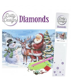 KIT DIAMOND SANTA CLAUS 29.7X42CM