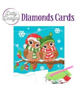 MINI KIT CARTE DIAMONDS CHRISTMAS BIRDS 29.7X42CM