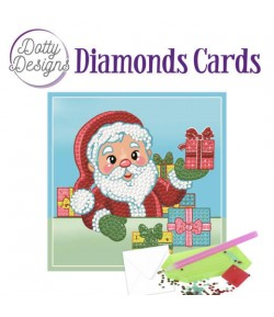 MINI KIT CARTE DIAMONDS SANTA 15X15CM