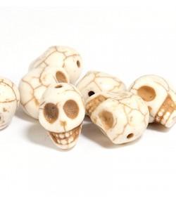 PERLES TETES DE MORT X 7