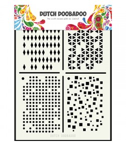 POCHOIR A5 FONDS - DUTCH DOOBADOO