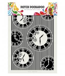 POCHOIR A4 HORLOGES - DUTCH DOOBADOO