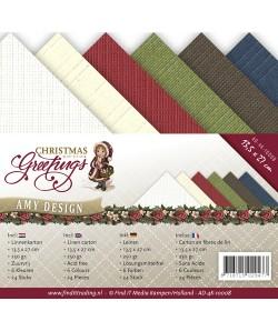 24 CARTES 13.5X27 CHRISTMAS GREETINGS