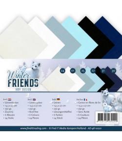 24 CARTES 13.5X27 WINTER FRIENDS