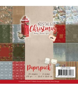 BLOC 23 FEUILLES 15 X 15 CM - NOSTALGIC CHRISTMAS ADPP10036
