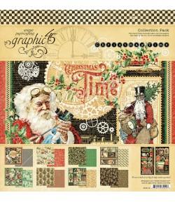 BLOC 16 FEUILLES CHRISTMAS TIME 30X30CM GRAPHIC45 4502119