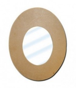MIROIR OVAL EN MEDIUM 43X55.5 CM