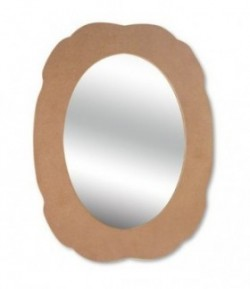 MIROIR ALLONGE EN MEDIUM 39.5X30CM