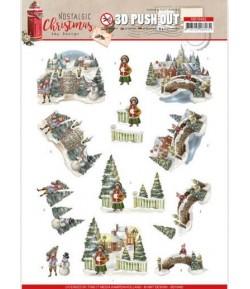 FEUILLE 3D NOSTALGIC CHRISTMAS - SB10482