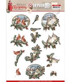 FEUILLE 3D NOSTALGIC CHRISTMAS - SB10483