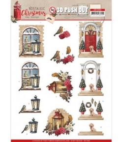 FEUILLE 3D NOSTALGIC CHRISTMAS - SB10484