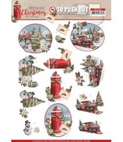FEUILLE 3D NOSTALGIC CHRISTMAS - SB10485