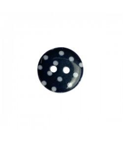 BOUTON EN PLASTIQUE POIS 1.5 CM - NOIR