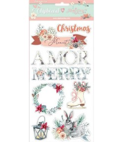 CHIPBOARD AMOR MERRY CHRISTMAS 15X30 - DFLCB15