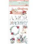CHIPBOARD AMOR MERRY CHRISTMAS 15X30 - DFLCB15