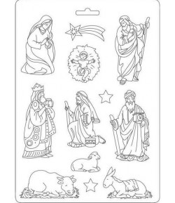 MOULE PVC FLEXIBLE - NATIVITY K3PTA534