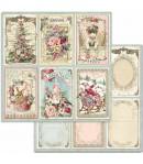 PAPIER CHRISTMAS CARDS 30 X 30 CM - SBB702 STAMPERIA