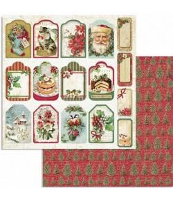 PAPIER CHRISTMAS TAG 30 X 30 CM - SBB706 STAMPERIA