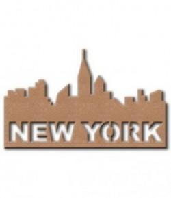 PLAQUE NEW YORK EN MEDIUM 24X15 CM