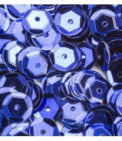 SEQUINS 6MM BLEU FONCE  - 12 GR