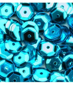 SEQUINS 6MM TURQUOISE  - 12 GR