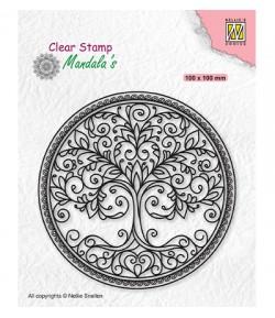 TAMPON CIRCLE WITH TREE - CSMAN003