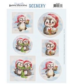 FEUILLE CHRISTMAS PENGUIN - CDS10033