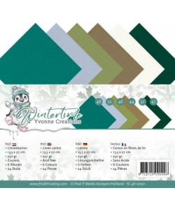 24 CARTES 13.5X27 WINTER TIME 10021
