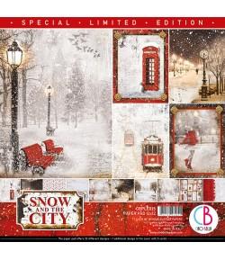 BLOC 12 FEUILLES SNOW AND THE CITY 30.5X30.5CM CBPLE015