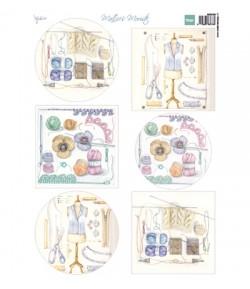 FEUILLE CHIOTS OISEAUX AGNEAU - MB0184- MARIANNE DESIGN